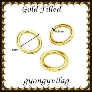 925-ös ezüst karika ESZK NY gold filled 6x0,8 - Meska.hu
