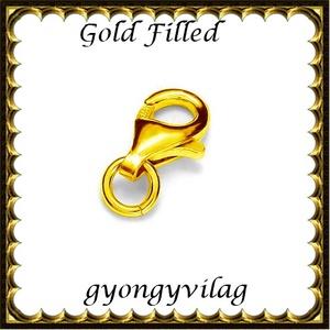 925-ös sterling ezüst ékszerkellék: lánckalocs  ELK 1S 19-11au, Gyöngy, ékszerkellék, Egyéb alkatrész, Ékszerkészítés, Gyöngy, ELK 1S 19-11au 925-ös fémjellel ellátott két rétegű, 24 karátos arany bevonattal ellátott, valódi e..., Alkotók boltja