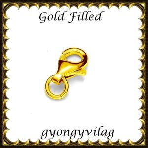 925-ös sterling ezüst ékszerkellék: lánckalocs  ELK 1S 19-9au, Gyöngy, ékszerkellék, Egyéb alkatrész, Ékszerkészítés, Gyöngy, ELK 1S 19-9au 925-ös fémjellel ellátott két rétegű, 24 karátos arany bevonattal ellátott, valódi ez..., Alkotók boltja