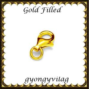 925-ös sterling ezüst ékszerkellék: lánckalocs  ELK 1S 19-8au, Gyöngy, ékszerkellék, Egyéb alkatrész, Ékszerkészítés, Gyöngy, ELK 1S 19-8au 925-ös fémjellel ellátott két rétegű, 24 karátos arany bevonattal ellátott, valódi ez..., Alkotók boltja
