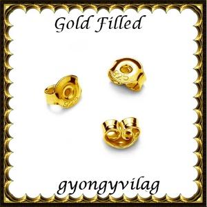 925-ös sterling ezüst ékszerkellék: fülbevalóalap bedugós EFK B 27-5,3, Gyöngy, ékszerkellék, Egyéb alkatrész, Ékszerkészítés, Mindenmás, Szerelékek, EFK B 27-5,3g vég\n\n925-ös fémjellel ellátott valódi ezüst, két rétegű, 24 karátos arany bevonattal e..., Meska