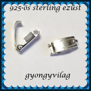 925-ös ezüst 1soros lánckapocs ELK 1S 40, Gyöngy, ékszerkellék, Egyéb alkatrész, Ékszerkészítés, Gyöngy,  925-ös fémjellel ellátott valódi ezüst (bevizsgált) 1 soros lánckapocs.  Az ár 1 db-ra vonatkozik...., Alkotók boltja