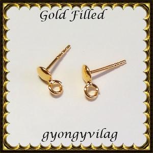 925-ös sterling ezüst ékszerkellék: fülbevalóalap bedugós EFK B 41g, Gyöngy, ékszerkellék, Egyéb alkatrész, Ékszerkészítés, Gyöngy, EFK B 41g --- 925-ös fémjellel ellátott két rétegű, 24 karátos arany bevonattal ellátott,  valódi e..., Alkotók boltja