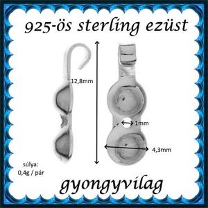 925-ös ezüst csomótakaró ECST 08 2db/cs - Meska.hu