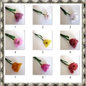 1 szál gyöngyből készített tulipán több színben GYV25-1 - Meska.hu