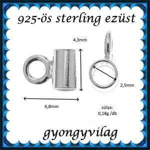 925-ös sterling ezüst ékszerkellék: medáltartó, medálkapocs EMT 38 - Meska.hu