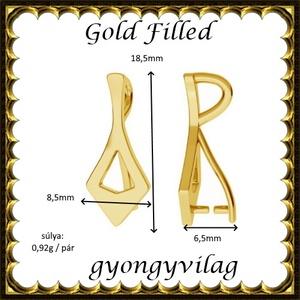 925-ös sterling ezüst ékszerkellék: medáltartó, medálkapocs EMK 86 g Gold Filled - Meska.hu