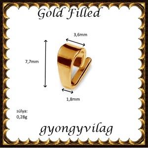 925-ös sterling ezüst ékszerkellék: medáltartó, medálkapocs EMK 72rg Gold Filled - gyöngy, ékszerkellék - egyéb alkatrész - Meska.hu