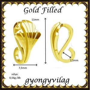 925-ös sterling ezüst ékszerkellék: medáltartó, medálkapocs EMK 104 g Gold Filled - gyöngy, ékszerkellék - egyéb alkatrész - Meska.hu