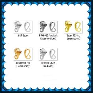 925-ös sterling ezüst ékszerkellék: medáltartó, medálkapocs EMK 105rg Gold Filled - gyöngy, ékszerkellék - egyéb alkatrész - Meska.hu