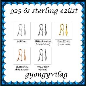 925-ös sterling ezüst ékszerkellék: medáltartó, medálkapocs EMK 78rg Gold Filled - gyöngy, ékszerkellék - egyéb alkatrész - Meska.hu