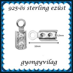 925-ös ezüst  lánckapocsvég 3,5mm-es 2db/cs ELK V 08-3,5 - Meska.hu