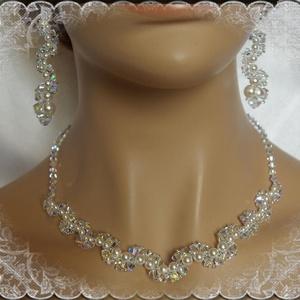 Esküvői, menyasszonyi, alkalmi ékszer szett, swarovszki kristály SSZ-ESW03-1 - esküvő - ékszer - Meska.hu