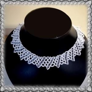 Gyöngyből fűzött  nyaklánc SL-GY08-2, Ékszer, Gyöngyös nyaklác, Nyaklánc, Ékszerkészítés, Gyöngyfűzés, gyöngyhímzés, Meska