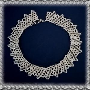 Gyöngyből fűzött  nyaklánc SL-GY08-2 - ékszer - nyaklánc - gyöngyös nyaklác - Meska.hu
