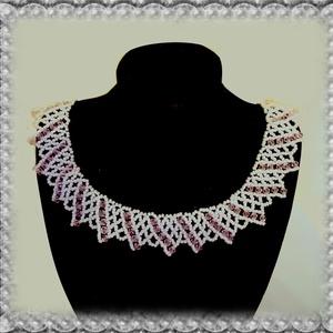 Gyöngyből fűzött koszorúslány nyaklánc SL-GY08-3, Ékszer, Gyöngyös nyaklác, Nyaklánc, Ékszerkészítés, Gyöngyfűzés, gyöngyhímzés, Meska