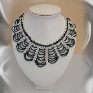 Gyöngyből fűzött  nyaklánc SL-GY09-2-36, Ékszer, Gyöngyös nyaklác, Nyaklánc, Ékszerkészítés, Gyöngyfűzés, gyöngyhímzés, Meska