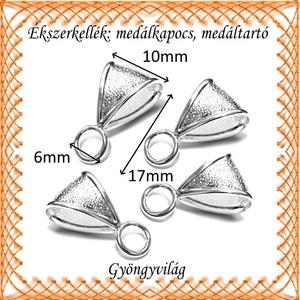 Ezüstözött medáltartó BMT 09  6db/csomag - gyöngy, ékszerkellék - egyéb alkatrész - Meska.hu