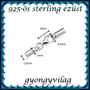 925-ös sterling ezüst ékszerkellék: láncvég + kapocs ELK K+V 04-1,5 1,5mm-es - gyöngy, ékszerkellék - egyéb alkatrész - Meska.hu
