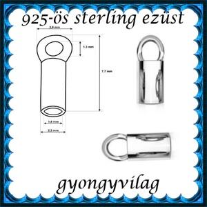 925-ös sterling ezüst ékszerkellék: láncvég + kapocs ELK K+V 04-1,8 1,8mm-es - gyöngy, ékszerkellék - egyéb alkatrész - Meska.hu