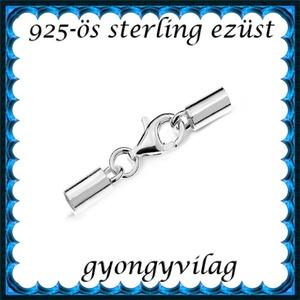 925-ös sterling ezüst ékszerkellék: láncvég + kapocs ELK K+V 04-2,8 2,8mm-es - Meska.hu