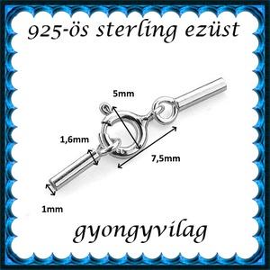 925-ös ezüst láncvég + kapocs ELK K+V 05-1 - gyöngy, ékszerkellék - egyéb alkatrész - Meska.hu