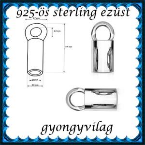 925-ös ezüst láncvég + kapocs ELK K+V 07-2,8 - gyöngy, ékszerkellék - egyéb alkatrész - Meska.hu