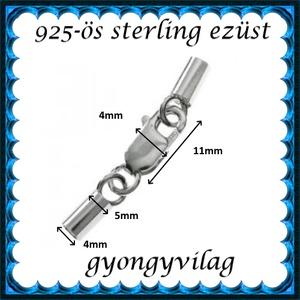 925-ös ezüst láncvég + kapocs ELK K+V 07-4 - gyöngy, ékszerkellék - egyéb alkatrész - Meska.hu