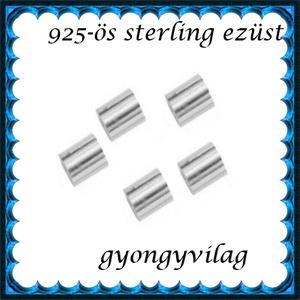 925-ös 2x2,5mm-es   ezüst köztes / gyöngy / díszitőelem  EKÖ 19, Gyöngy, ékszerkellék, Egyéb alkatrész, Ékszerkészítés, Mindenmás, Szerelékek, EKÖ 19  925-ös valódi  ezüst (bevizsgált) köztes / gyöngy / díszitőelem .  2x2,5mm-es stopper/ ezüs..., Alkotók boltja
