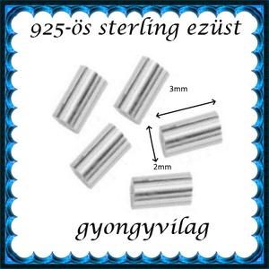 925-ös 5x1,5mm-es   ezüst köztes / gyöngy / díszitőelem  EKÖ 32, Gyöngy, ékszerkellék, Egyéb alkatrész, Ékszerkészítés, Mindenmás, Szerelékek, EKÖ 19  925-ös valódi  ezüst (bevizsgált) köztes / gyöngy / díszitőelem .  5x1,5mm-es  ezüst henger..., Alkotók boltja