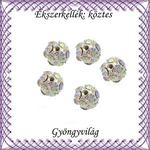 Ékszerkellék: köztes / díszítőelem / gyöngy BKÖ 1S 36-6e crystal ab 5db/csomag - gyöngy, ékszerkellék - fém köztesek - Meska.hu
