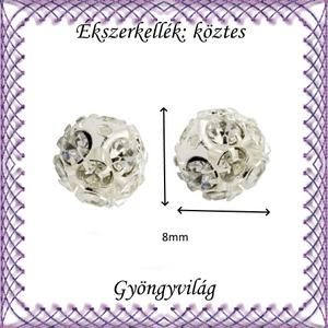 Ékszerkellék: köztes / díszítőelem / gyöngy BKÖ 1S 36-8e clear 4db/csomag - gyöngy, ékszerkellék - fém köztesek - Meska.hu