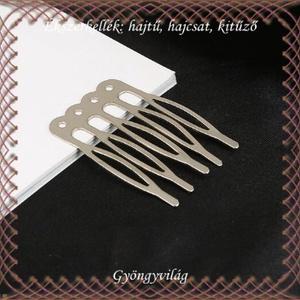 Ékszerkellék: hajtű, hajcsat, kitűző BEK H01 4-5  - gyöngy, ékszerkellék - üveggyöngy - Meska.hu