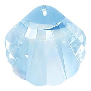 Ékszerkellék: Swarovski kagyló 16mm-es  aquamarin - gyöngy, ékszerkellék - swarovski kristályok - Meska.hu