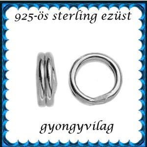 925-ös ezüst szerelőkarika dupla ESZK D 3,2 x 0,5mm-es  4db/csomag - gyöngy, ékszerkellék - egyéb alkatrész - Meska.hu