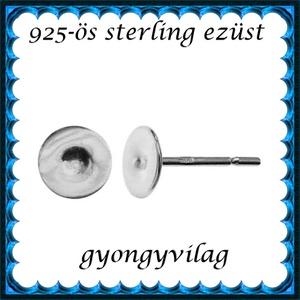 925-ös sterling ezüst ékszerkellék: fülbevalóalap bedugós EFK B 38-5, Gyöngy, ékszerkellék, Egyéb alkatrész, Ékszerkészítés, Mindenmás, Szerelékek, EFK B 38-5\n\n925-ös fémjellel ellátott valódi ezüst (bevizsgált) bedugós fülbevalóalap.\n1 pár\n\nA mére..., Meska