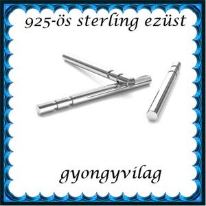925-ös ezüst fülbevaló kapocs EFK B 40-11, Gyöngy, ékszerkellék, Egyéb alkatrész, Ékszerkészítés, Mindenmás, Szerelékek,  EFK B 40-11 --- 925-ös fémjellel ellátott valódi ezüst (bevizsgált) bedugós fülbevaló shift félig ..., Alkotók boltja
