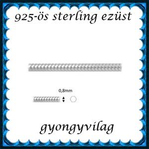 925-ös ezüst lánc méterben 925 EL03-0,8, Gyöngy, ékszerkellék, Ékszerkészítés, Mindenmás, Szerelékek, 925-ös valódi ezüst (bevizsgált) lánc méterben .\n\nAz  ár 1 cm láncra vonatkozik, kérlek annyi cm-t ü..., Meska