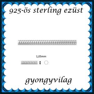 925-ös ezüst lánc méterben 925 EL03-1,05, Gyöngy, ékszerkellék, Ékszerkészítés, Mindenmás, Szerelékek, 925-ös valódi ezüst (bevizsgált) lánc méterben .\nKét darab van belőle készleten, egy 21 és egy 28cm-..., Meska