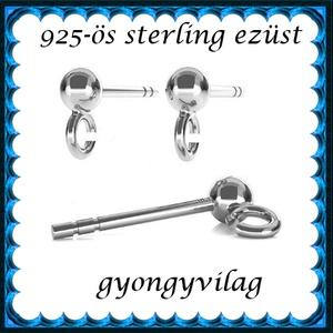 925-ös ezüst fülbevaló kapocs EFK B 01-1-4, Gyöngy, ékszerkellék, Egyéb alkatrész, Ékszerkészítés, Mindenmás, Szerelékek,  EFK B 01-1-4   925-ös fémjellel ellátott valódi ezüst (bevizsgált) bedugós fülbevalóalap.  1 pár  ..., Alkotók boltja