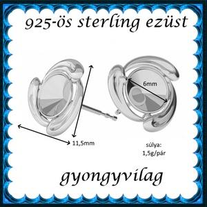 925-ös ezüst fülbevaló kapocs EFK B 56 - gyöngy, ékszerkellék - egyéb alkatrész - Meska.hu