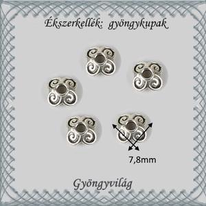 Ékszerkellék: gyöngykupak BGYK 25 7,8mm-es 10db/csomag - Meska.hu