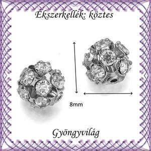 Ékszerkellék: köztes / díszítőelem / gyöngy BKÖ 1S 36-8r crystal  2db/csomag - Meska.hu