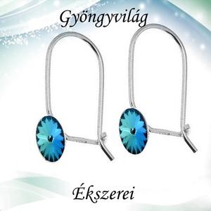 Fülbevalók: Swarovski rivoli, 925-ös sterling ezüst SFE-SWF03 több színben, Ékszer, Lógó fülbevaló, Fülbevaló, Ékszerkészítés, Gyöngyfűzés, gyöngyhímzés, Meska