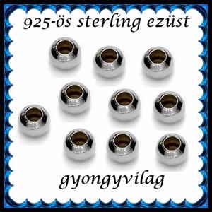 925-ös ezüst köztes / gyöngy / dísz EKÖ 10-1,8r - gyöngy, ékszerkellék - fém köztesek - Meska.hu