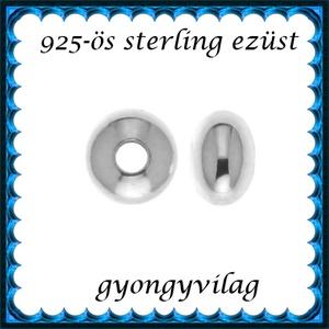 925-ös sterling ezüst ékszerkellék: köztes/gyöngy/díszitőelem EKÖ 09-3 2db/cs - gyöngy, ékszerkellék - fém köztesek - Meska.hu