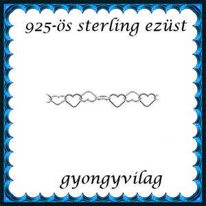 925-ös sterling ezüst ékszerkellék: lánc méterben EL01-3 - gyöngy, ékszerkellék - Meska.hu