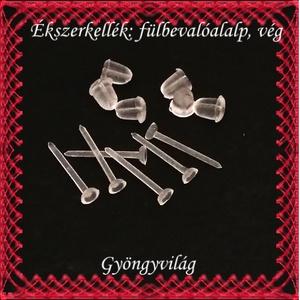 Ékszerkellék: fülbevaló alap BFK-SZ01-3mm 20pár/cs - gyöngy, ékszerkellék - egyéb alkatrész - Meska.hu