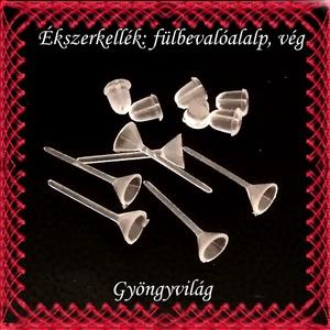 Ékszerkellék: fülbevaló alap BFK-SZ01-5x3mm 20pár/cs - gyöngy, ékszerkellék - egyéb alkatrész - Meska.hu