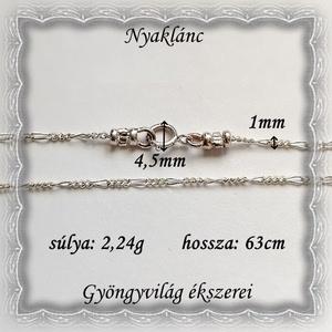 925-ös sterling ezüst lánc SL-EÜ03-63 - Meska.hu